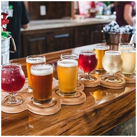 bieres artisanales de toutes les couleurs