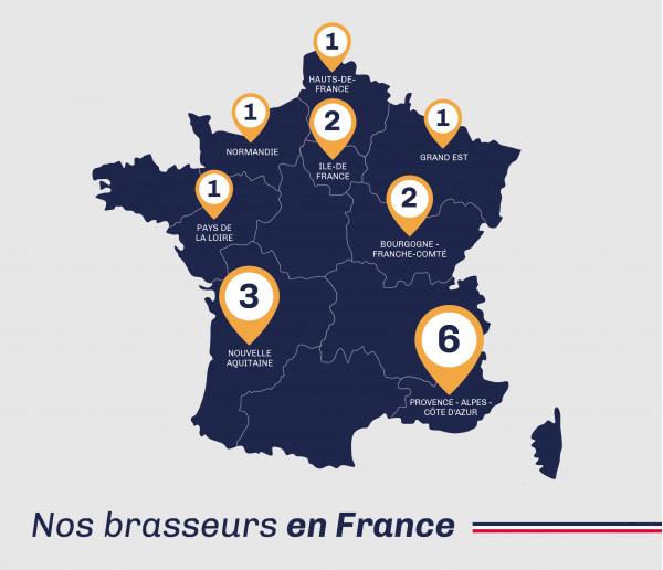 Carte de France de la bière artisanale