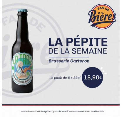 Promotion nouvelle biere Arlatina Carteron